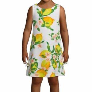 Pappagallo Girls XS Lemon Sleeveless Dress